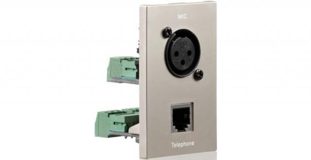 PureID ID-WP-MOD-XL - Audio XLR + RJ11 wallplate