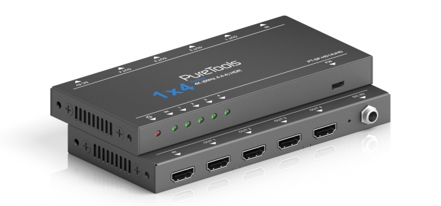 PureTools Splitter HDMI 1x4 4K 18Gbps PT-SP-HD14UHD