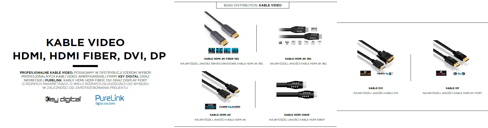 kable video hdmi dvi display port