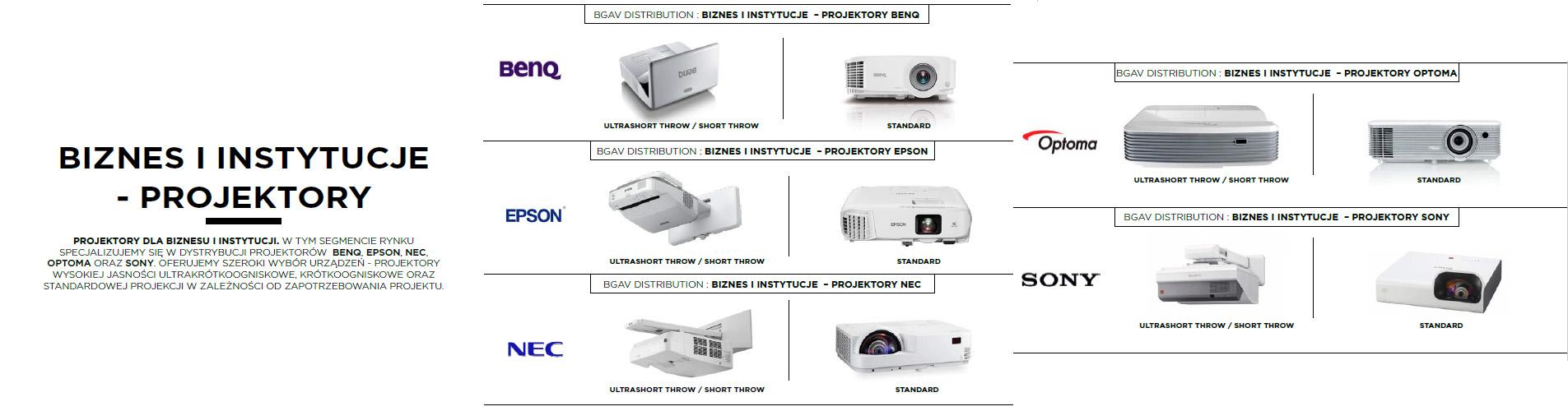 projektory biznes i instytucje