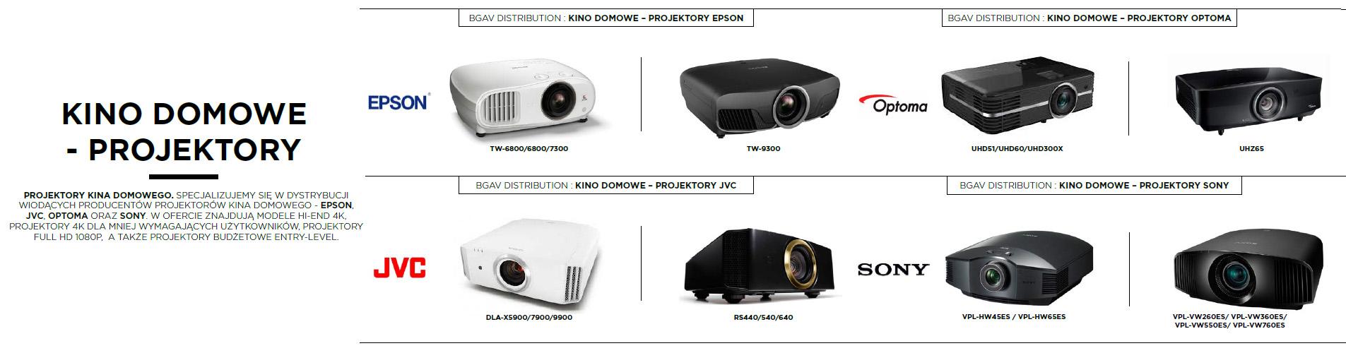 projektory kino domowe